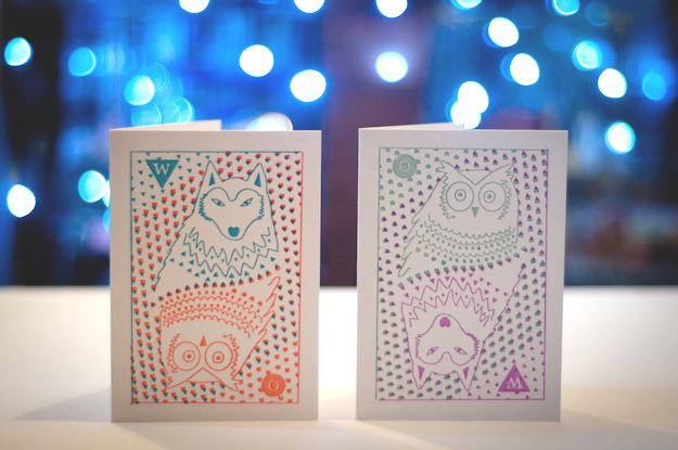 owlnwold christmas cards