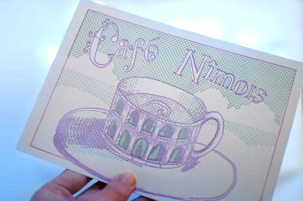cafe nimois postcard
